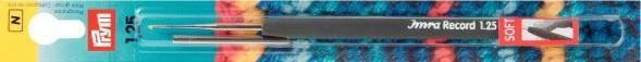 Крючок PRYM с эргономичной ручкой для тонкой пряжи, сталь/пластик