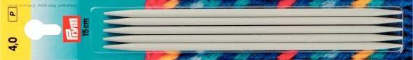 Спицы чулочно-носочные PRYM, 15 см, алюминий с покрытием, арт. 191361-65