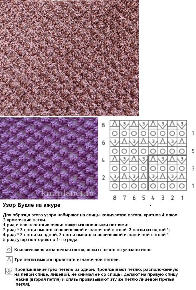Вязание спицами плотные узоры схемы с описанием 97